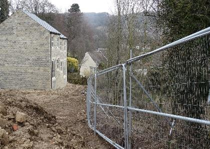 Dacre Banks - tree protection fencing