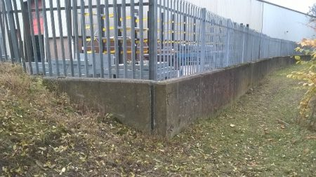 River Calder Brighouse defence wall