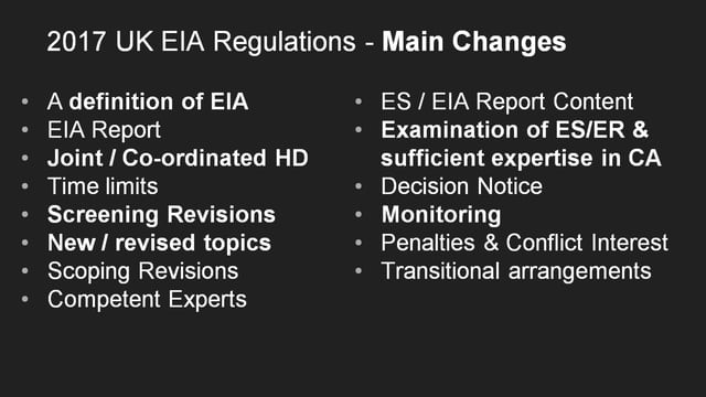 UK EIA Regulations