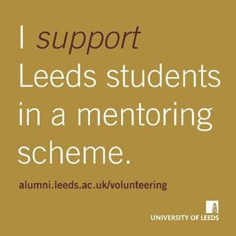 I support Leeds students in a mentoring scheme