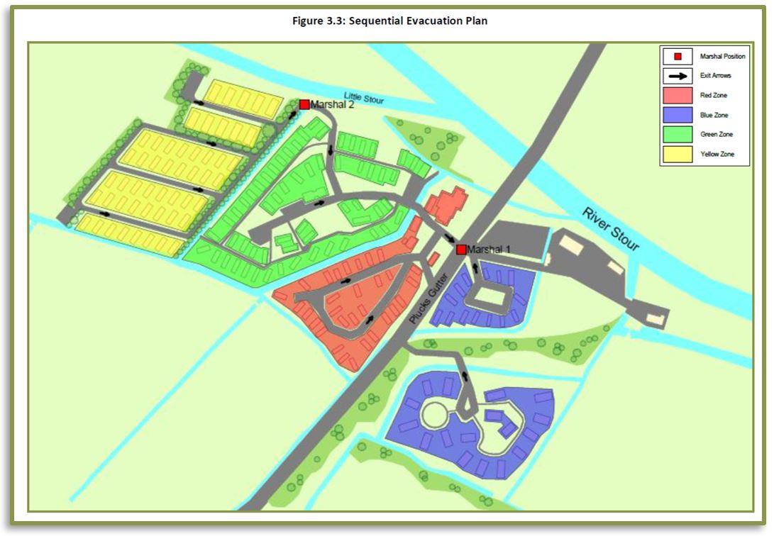 Duck and Dog Caravan Park - Flood Evacuation Phase Plan