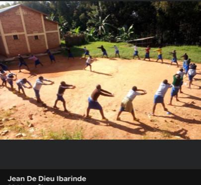 Exercising with our RDO, Jean de Dieu