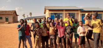 Local children benefiting from 'street rugby' by our RDO, Laurien